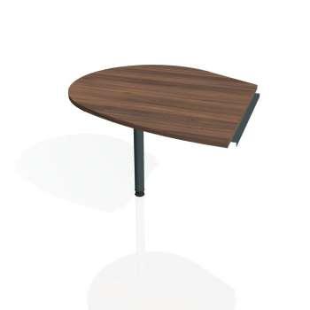 Přídavný stůl Hobis PROXY PP 20 levý, ořech/kov