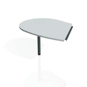 Přídavný stůl Hobis PROXY PP 20 levý, šedá/kov