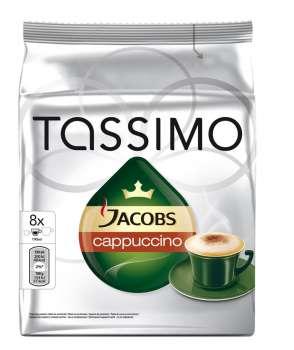 Kapsle - Tassimo Jacobs Krönung Cappuccino, 8 ks kávy + 8 ks mléka