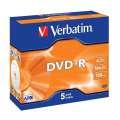 Disky DVD+R Verbatim - standard box, 5 ks