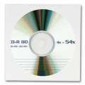 Papírové obálky na CD/DVD - s okénkem, bílá, 100 kusů