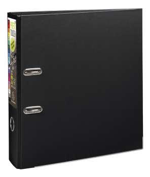 Pákový pořadač Exacompta - MAXI A4+, plastový, hřbet 8,0 cm, černý