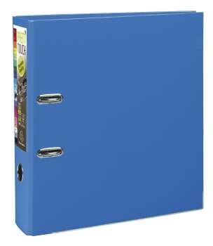 Pákový pořadač Exacompta - MAXI A4+, plastový, hřbet 8,0 cm, modrý