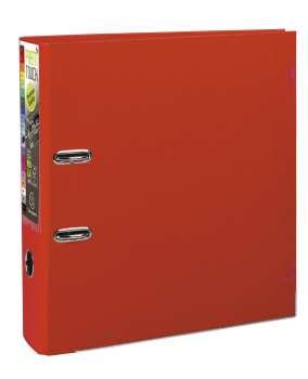 Pákový pořadač Exacompta - MAXI A4+, plastový, hřbet 8,0 cm, červený