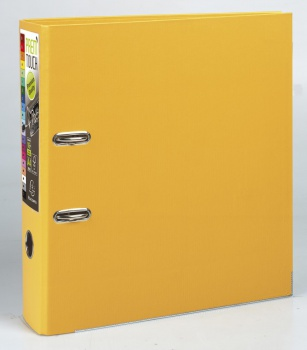 Pákový pořadač Exacompta - MAXI A4+, plastový, hřbet 8,0 cm, žlutá