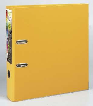Pákový pořadač Exacompta - MAXI A4+, plastový, hřbet 8,0 cm, žlutý