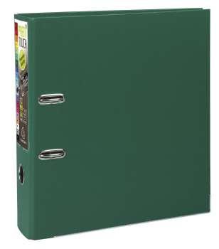 Pákový pořadač Exacompta - MAXI A4+, plastový, hřbet 8,0 cm, tmavě zelený