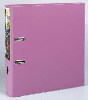Pákový pořadač Exacompta - MAXI A4+, plastový, hřbet 8,0 cm, růžový