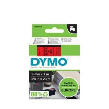 Páska Dymo D1 šířka 9 mm/návin 7m, černá / červená