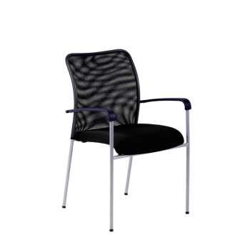 Konferenční židle Duell s područkami, černá