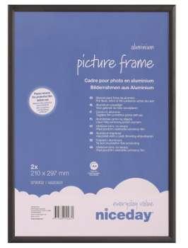 Hliníkový obrazový rám A4 - černý