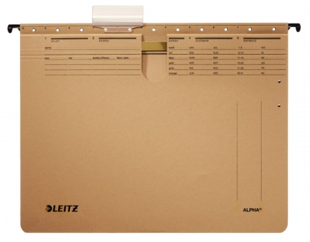 Závěsné rychlovazače  LEITZ Alpha A4, hnědé, 25 ks