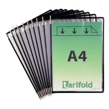 Kapsy Tarifold otevřené shora, černé, 10 ks
