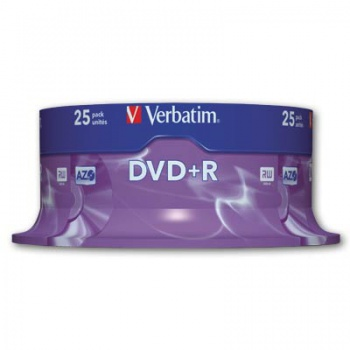 Disky DVD+R Verbatim - cake box, 25 ks