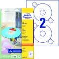 Etikety na CD Avery Zweckform - bílé, průměr 117 mm, 50 ks