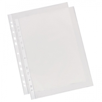 """Závěsné obaly """"U""""   - A4, 40 mikronů, krupičkové, čirá, 100 ks"""