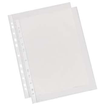 """Závěsné """"U"""" obaly - A4, 40 mikronů, krupičkové, čiré, 100 ks"""