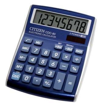 Stolní kalkulačka Citizen CDC-80 – modrá