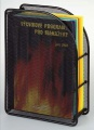 Drátěný stojan na katalogy - černý