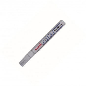 Lakový popisovač Uni PX 20 - stříbrná