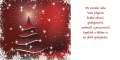 Novoročenka PF 2022 - červený stromeček