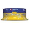 Disky DVD+RW Verbatim - přepisovatelné, cake box, 25 ks