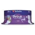 Disky DVD+R Verbatim Printable - potisknutelné, cake box, 25 ks