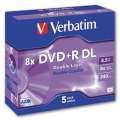 Disky DVD+R DL Verbatim - standard box, 5 ks