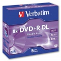 DVD+R DL Verbatim - standard box, 5 ks