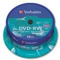 Disky DVD-RW Verbatim - přepisovatelné, cake box, 25 ks