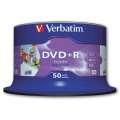 Disky DVD+R Verbatim Printable - potisknutelné, cake box, 50 ks