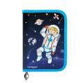 Penál KEYROAD jednopatrový - 1 chlopeň, naplněný 29 ks, motiv kosmonaut
