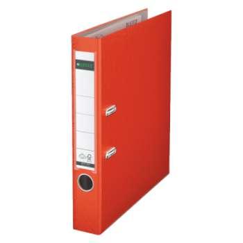 Pákový pořadač LEITZ 180° - A4, plastový, hřbet 5,2 cm, světle červená