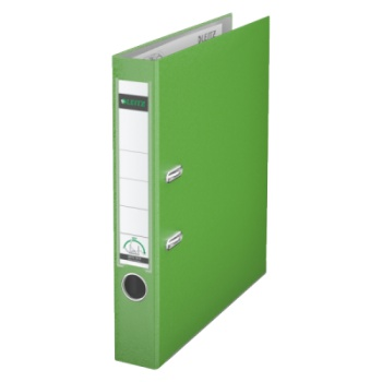 Pákový pořadač LEITZ 180° - A4, plastový, hřbet 5,2 cm, světle zelený