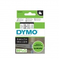 Páska Dymo D1 šířka 6 mm/návin 7m, černá / průhledná