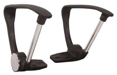 Pevné područky k židli Niceday Ness a Mosil - černá, 2 ks