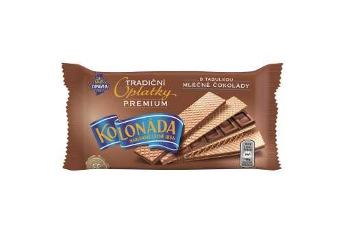 Premium Kolonáda oplatky - mléčná čokoláda, 92 g