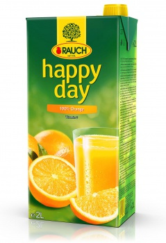 Džus HAPPY DAY - pomeranč 100 %, 2 l
