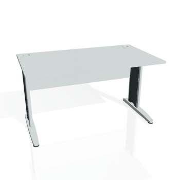 Psací stůl Hobis CROSS CS 1400, šedá/kov