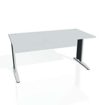 Psací stůl Hobis CROSS CS 1600, šedá/kov