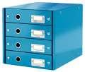 Zásuvkový box Leitz Click&Store WOW WOW - 4 zásuvky, modrá