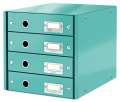 Zásuvkový box Leitz Click&Store WOW WOW - 4 zásuvky, ledově modrá