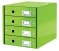 Zásuvkový box Leitz Click&Store WOW WOW - 4 zásuvky, zelená