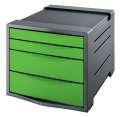 Zásuvkový box Esselte Europost VIVIDA - 4 zásuvky, zelený/šedý