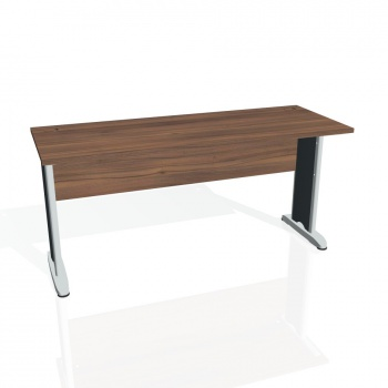 Psací stůl Hobis CROSS CE 1600, ořech/kov