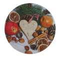 Plechový dekorační talíř - staročeské Vánoce, 33cm