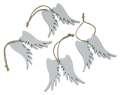 Závěsná dekorace křídla - 6 cm, 4 ks