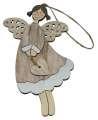 Závěsný anděl se srdcem, 11 cm