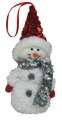 Plyšový sněhulák na zavěšení - 15 cm