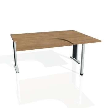 Psací stůl Hobis CROSS CE 60 levý, višeň/kov